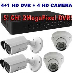 SS3400AHD 4+1 kamerás megfigyelő szett