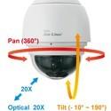 Speed dome PTZ kamera