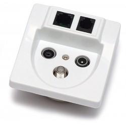 RTV-SAT / RJ-45 / RJ-11 socket