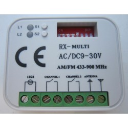 Tradingall RX-Multi 433-900 kétcsatornás ugró/fix kódos külső rádióvevő