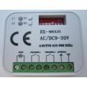RX-Multi 433-900 kétcsatornás ugró/fix kódos külső rádióvevő