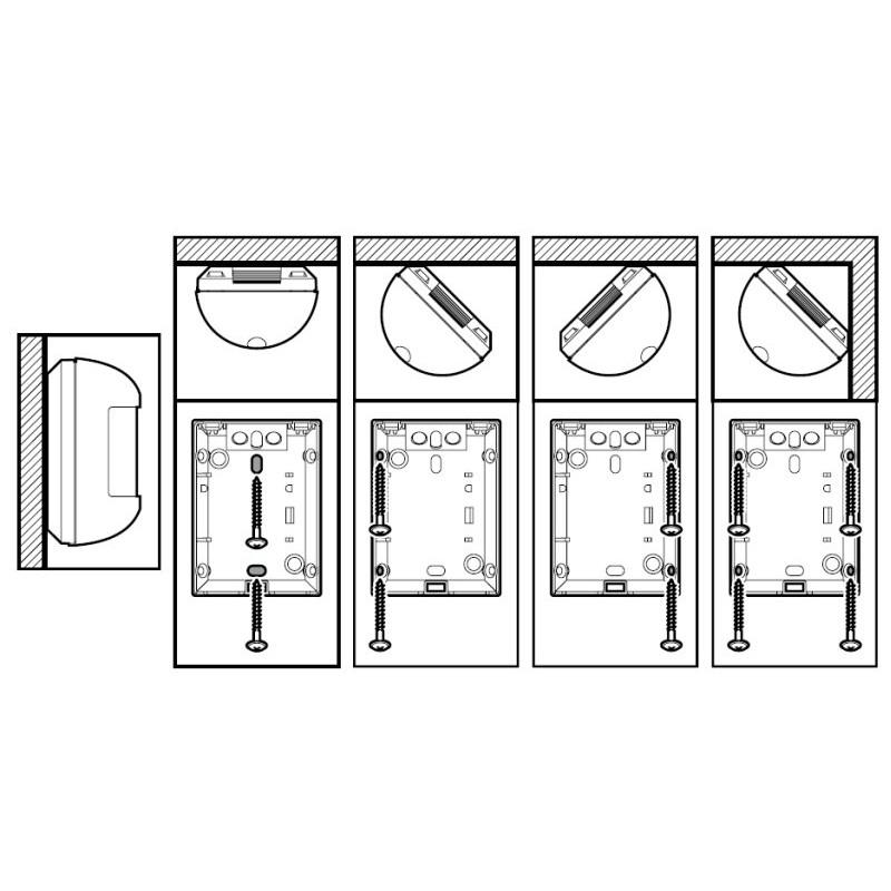 satel amber digitaler passiv infrarot bewegungsmelder. Black Bedroom Furniture Sets. Home Design Ideas