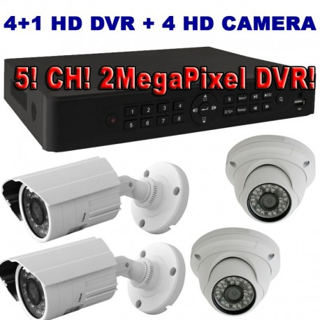 SS3400AHD 4+1 kameras videoüberwachung set
