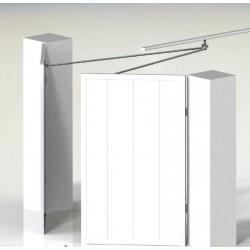 Adapt swing garage door hardware