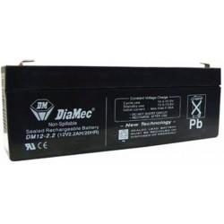 12V 2,2Ah Diamec DM12-2.2 Blei-Säure-Batterie