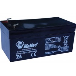 12V 3,3Ah Diamec DM12-3.3 sealed lead acid battery