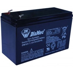 12V 7Ah Diamec DM12-7 sealed lead acid battery