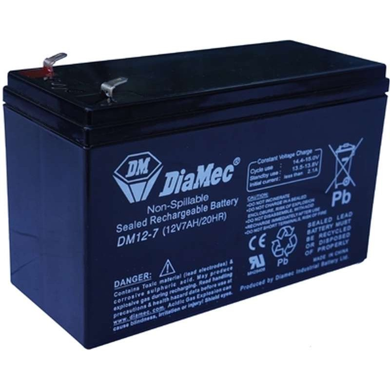 diamec dm12 7 12v 7ah sealed lead acid battery. Black Bedroom Furniture Sets. Home Design Ideas
