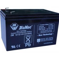 12V 12Ah Diamec DM12-12 Blei-Säure-Batterie
