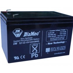 12V 12Ah Diamec DM12-12 sealed lead acid battery