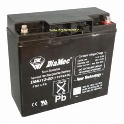 12V 20Ah Diamec DM12-20 Blei-Säure-Batterie