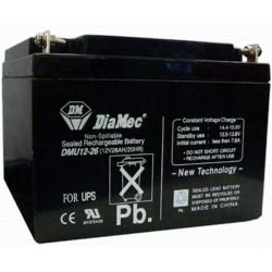 12V 26Ah Diamec DM12-26 Blei-Säure-Batterie
