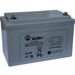 12V 100Ah Diamec DM12-100 Blei-Säure-Batterie