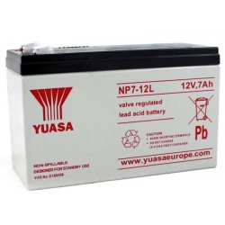 12V 7Ah Yuasa NP7-12 sealed lead acid battery