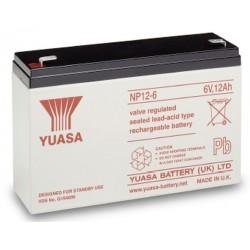 06V 12Ah Yuasa NP12-6 Blei-Säure-Batterie