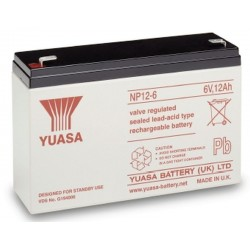06V 12Ah Yuasa NP12-6 sealed lead acid battery