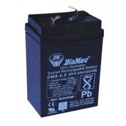 06V 4.5Ah Diamec DM6-4.5 Blei-Säure-Batterie