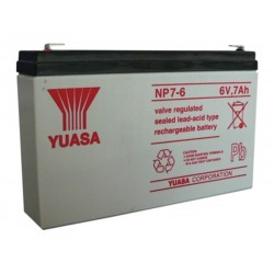 06V 7Ah Yuasa NP7-6 Blei-Säure-Batterie