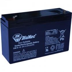 06V 12Ah Diamec DM6-12 Blei-Säure-Batterie