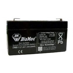 06V 1,3Ah Diamec DM6-1,3 Blei-Säure-Batterie