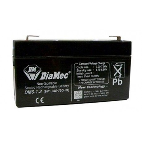 06V 1,3Ah Diamec DM6-1,3 akkumulátor
