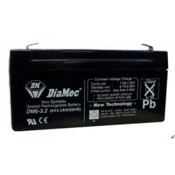 06V 3,2Ah Diamec DM6-3,2 Blei-Säure-Batterie