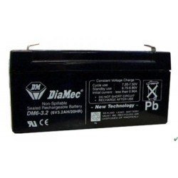 06V 3.2Ah Diamec DM6-3.2 sealed lead acid battery