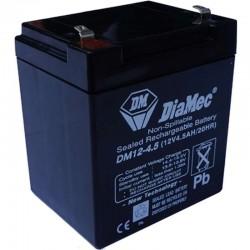 12V 4,5Ah Diamec DM12-4.5 Blei-Säure-Batterie